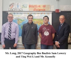 Purple Lady Prize for Passion and Proficiency in Geography Awarded to Sam Lowery '18