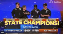 WGBH High School Quiz Show Team State Champs