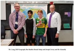 Purple Lady Prize for Passion and Proficiency in Geography Awarded to Ronak Saluja '22