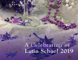 Honor Our Awardees at A Celebration of Latin School on Nov. 16