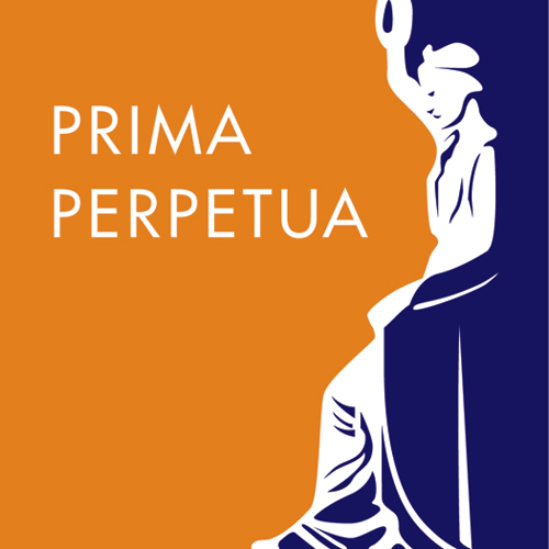 Prima Perpetua Orange and Purple Logo